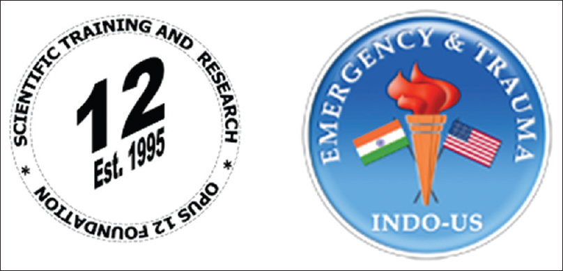 Figure 1: Organization logos for OPUS 12 Foundation, Inc., and INDO-US Trauma and Emergency Collaborative. Our two organizations are celebrating a decade of scientific and educational collaborations